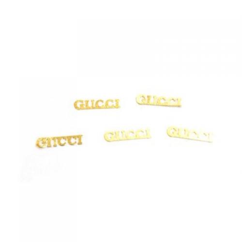 Дизайн золотистый металл TNL - Гуччи (20 шт/уп)