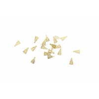 Дизайн золотистый металл TNL - Ёлочки (20 шт/уп)