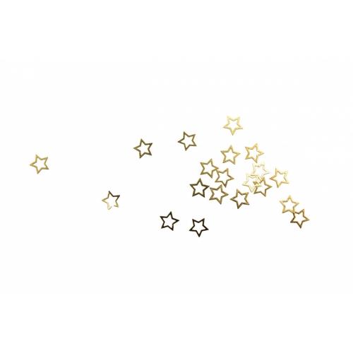 Дизайн золотистый металл TNL - Звезда (20 шт/уп)