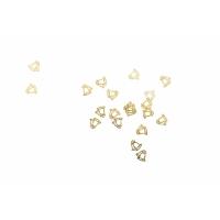 Дизайн золотистый металл TNL - Колокольчик (20 шт/уп)