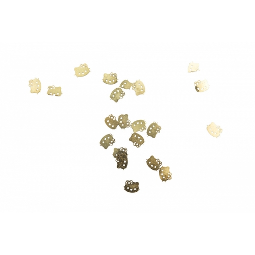 Дизайн золотистый металл TNL - Кошка (20 шт/уп)