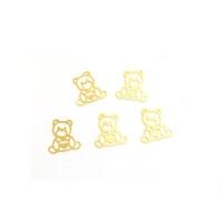 Дизайн золотистый металл TNL - Мишки (20 шт/уп)