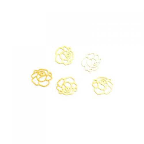Дизайн золотистый металл TNL - Роза (20 шт/уп)