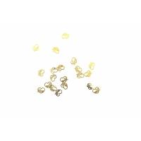 Дизайн золотистый металл TNL - Сердечки (20 шт/уп)