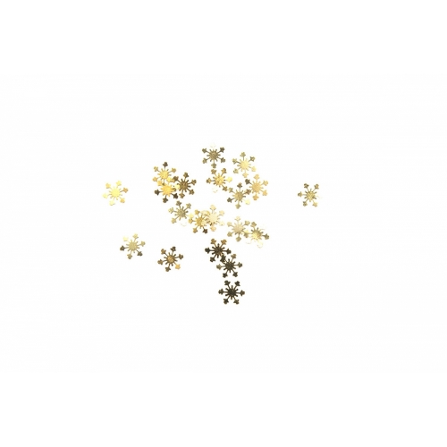Дизайн золотистый металл TNL - Снежинки (20 шт/уп)