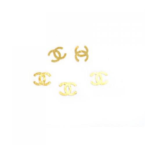 Дизайн золотистый металл TNL - Шанель (20 шт/уп)