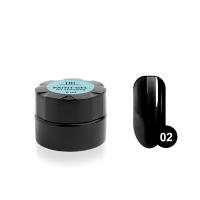Гель-краска для стемпинга TNL №02 - черная (6 мл.)