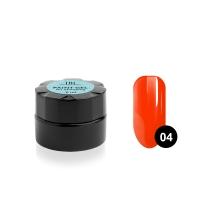 Гель-краска для стемпинга TNL №04 - неоновая оранжевая (6 мл.)