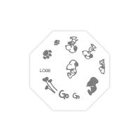 Трафарет металлический для стемпинга LO-06