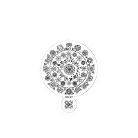 Трафарет металлический для стемпинга большой TNL - Мандала счастья (в индивидуальной упаковке)