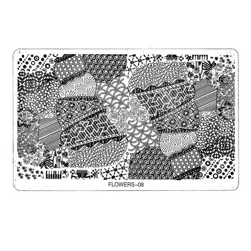 Трафарет металлический для стемпинга большой TNL - Романтика (в индивидуальной упаковке)