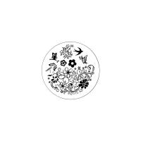 Трафарет металлический для стемпинга малый TNL - Совушка (в индивидуальной упаковке)