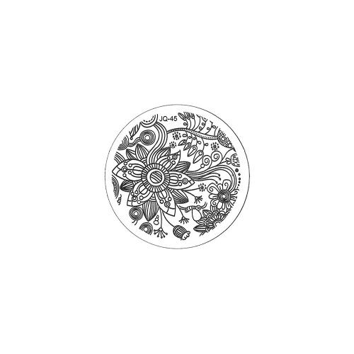 Трафарет металлический для стемпинга малый TNL - Тропическая лилия (в индивидуальной упаковке)
