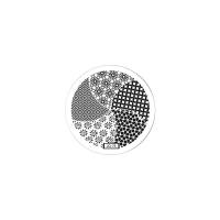 Трафарет металлический для стемпинга малый TNL - Цветочный калейдоскоп (в индивидуальной упаковке)