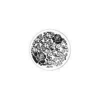Трафарет металлический для стемпинга малый TNL - Чайная роза (в индивидуальной упаковке)