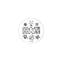 Трафарет металлический для стемпинга малый TNL - Эйфелева башня (в индивидуальной упаковке)