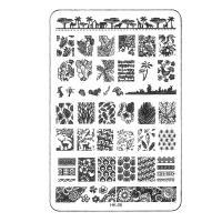 Трафарет металлический для стемпинга средний прямоугольный TNL - Лесные мотивы (в инд. уп.)