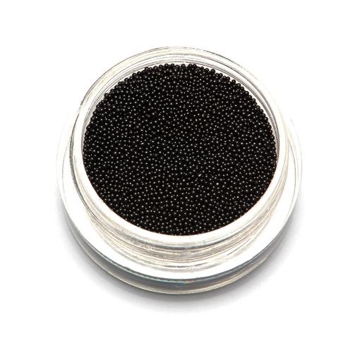 Бульонки супер мелкие - черные - 0,4 мм (3 гр.)