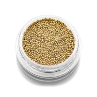 Бульонки металлические TNL - золото - 0,8 мм (7 гр.)