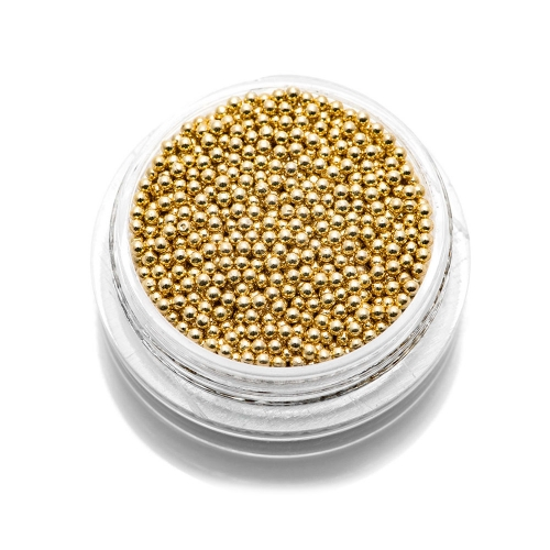 Бульонки металлические TNL - золото - 1,2 мм (7 гр.)