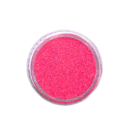 Меланж-сахарок для дизайна ногтей TNL №18 неон розовый