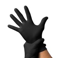 Нитриловые перчатки черные