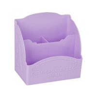 Подставка для кистей и пилок большая Париж, фиолетовая