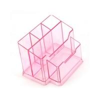 Подставка для кистей №77, прозрачно-розовая
