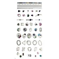 Nika Nagel, Набор наклеек для дизайна ногтей Фреска ювелирная №13