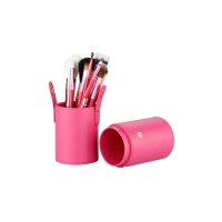 TNL, Набор кистей для макияжа TNL (12 шт.) в розовой тубе
