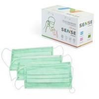 Sense, Маска защитная, зелёная, 100 шт.