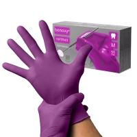 Benovy, Перчатки (S) фиолетовые, 50 пар/уп.