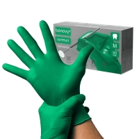 Benovy, Перчатки (M) зелёные, 50 пар/уп.