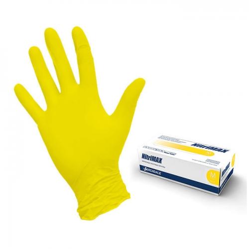 Перчатки (S) NitriMAX желтые, 50 пар/уп.