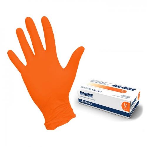 Перчатки (M) NitriMAX оранжевые, 50 пар/уп.