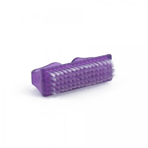 Щеточка для ногтей фиолетовая с изогнутыми ручками