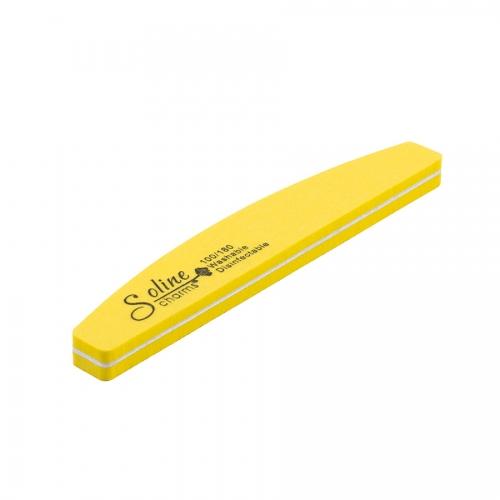 Пилка-баф лодочка желтая