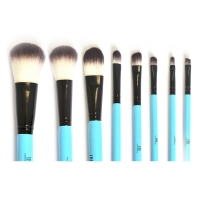 TNL, Набор кистей для макияжа TNL (8 шт.) в голубой тубе