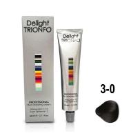 Constant Delight, Крем-краска DELIGHT TRIONFO для окрашивания волос 3-0 темно-коричневый натуральный 60 мл