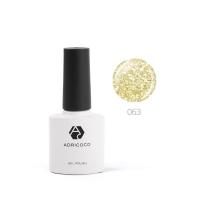 ADRICOCO , Цветной гель-лак №063 мерцающий золотой (8 мл.)