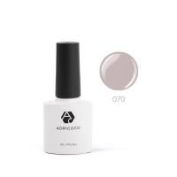 ADRICOCO, Цветной гель-лак  №070 серый (8 мл.)