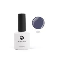 ADRICOCO, Цветной гель-лак  №081 антрацитовый (8 мл.)