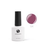 ADRICOCO,Цветной гель-лак №124 бордово-фиолетовый (8 мл.)