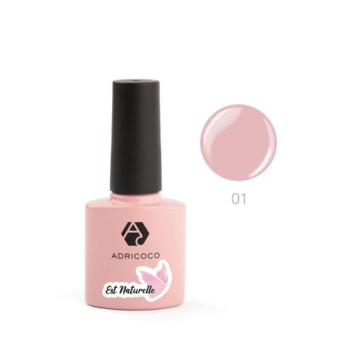 Гель-лак ADRICOCO Est Naturelle №01 камуфлирующий розовый (8 мл)