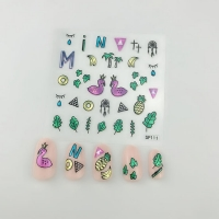 Кристалл Nails, Наклейка 5D стикер для дизайна ногтей SP 111