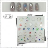 Кристалл Nails, Наклейка 5D стикер для дизайна ногтей SP 128