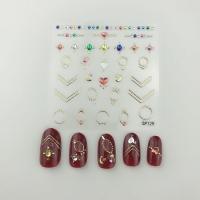 Кристалл Nails, Наклейка 5D стикер для дизайна ногтей SP 129