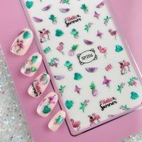 Кристалл Nails, Наклейка 5D стикер для дизайна ногтей SP 206