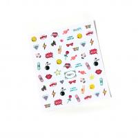 Кристалл Nails, Наклейка 5D стикер для дизайна ногтей TH 011_1