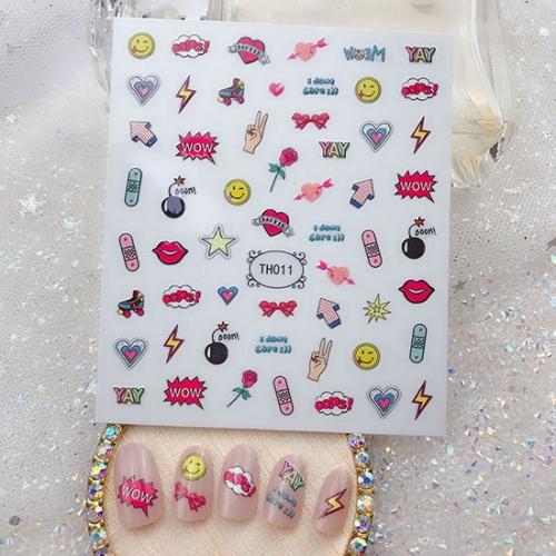 Кристалл Nails, Наклейка 5D стикер для дизайна ногтей TH 011